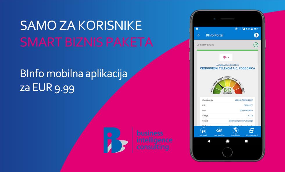 BInfo.me mobilna aplikacija u ponudi Crnogorskog telekoma